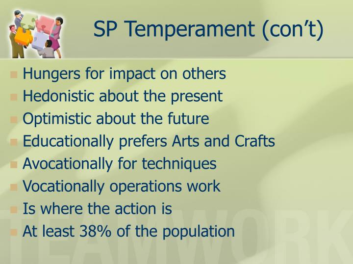 SP Temperament (con't)