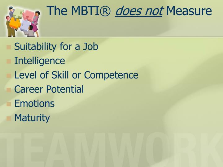 The MBTI