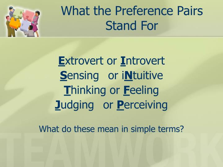 What the Preference Pairs Stand For