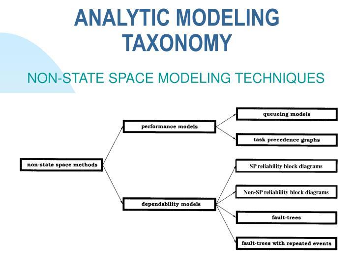 ANALYTIC MODELING TAXONOMY