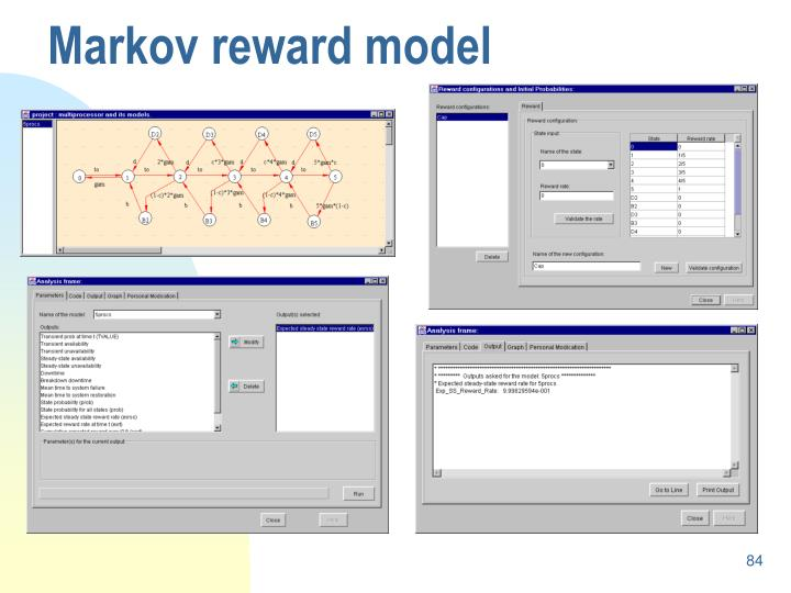 Markov reward model