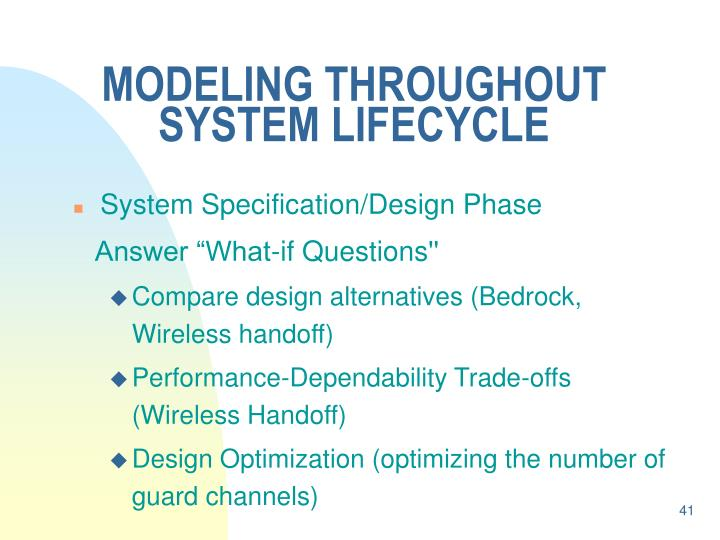 MODELING THROUGHOUT SYSTEM LIFECYCLE