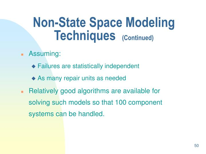 Non-State Space Modeling Techniques
