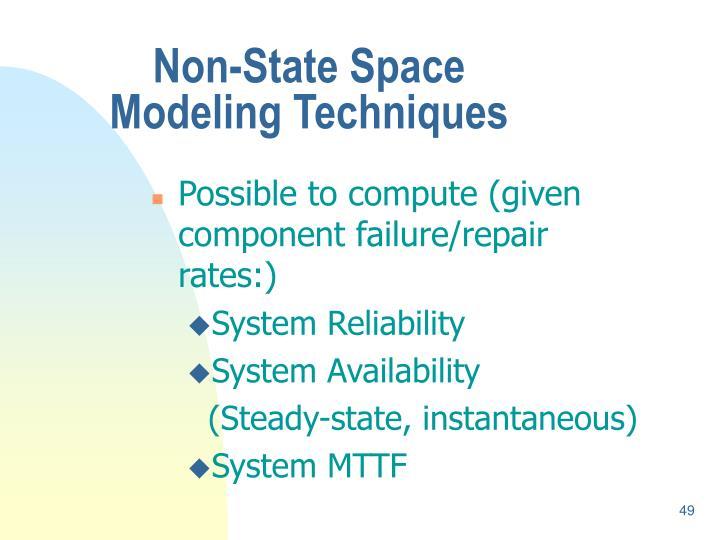 Non-State Space