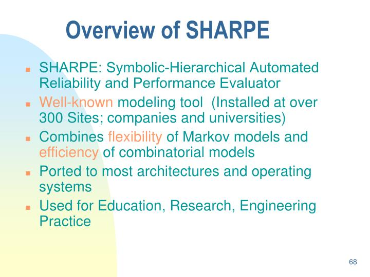 SHARPE: Symbolic-Hierarchical Automated Reliability and Performance Evaluator