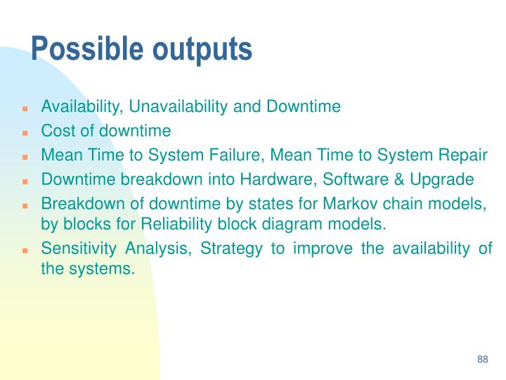 Possible outputs