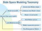 state space modeling taxonomy