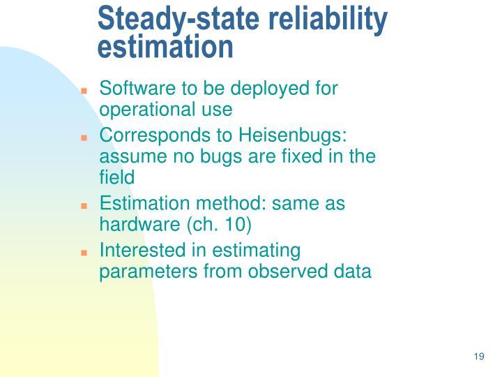 Steady-state reliability estimation