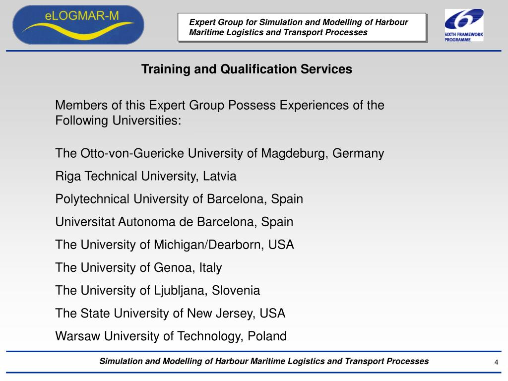 Training and Qualification Services