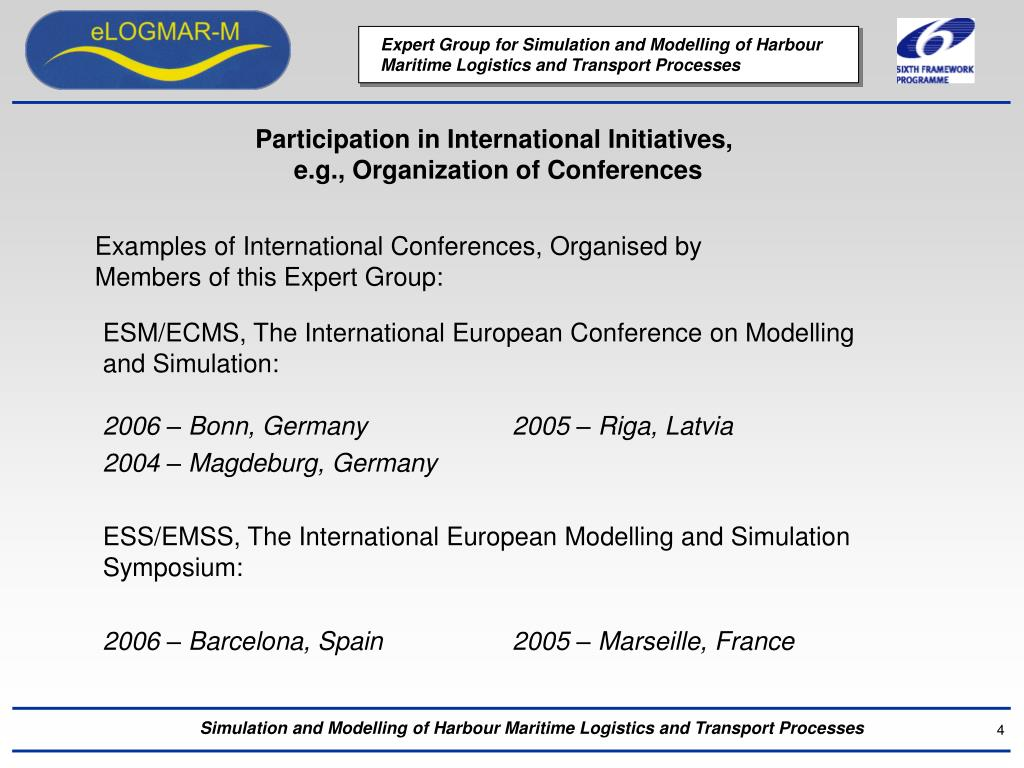 Participation in International Initiatives