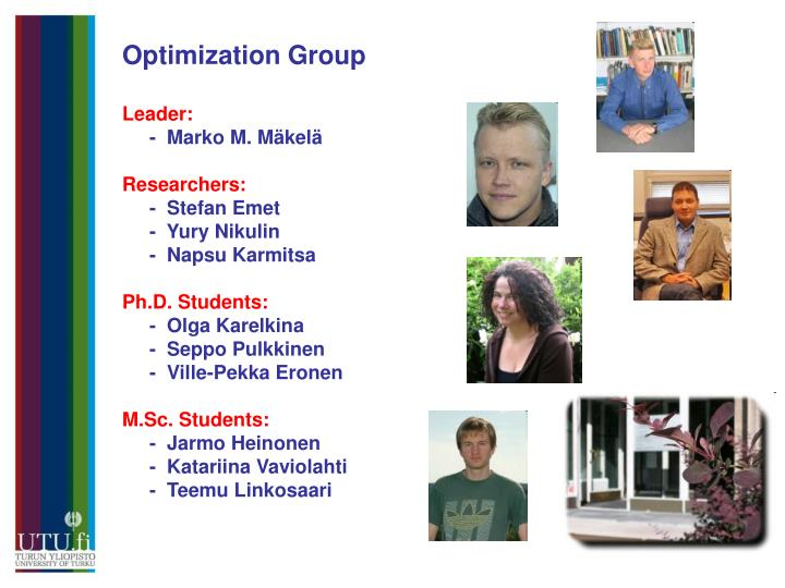 Optimization Group