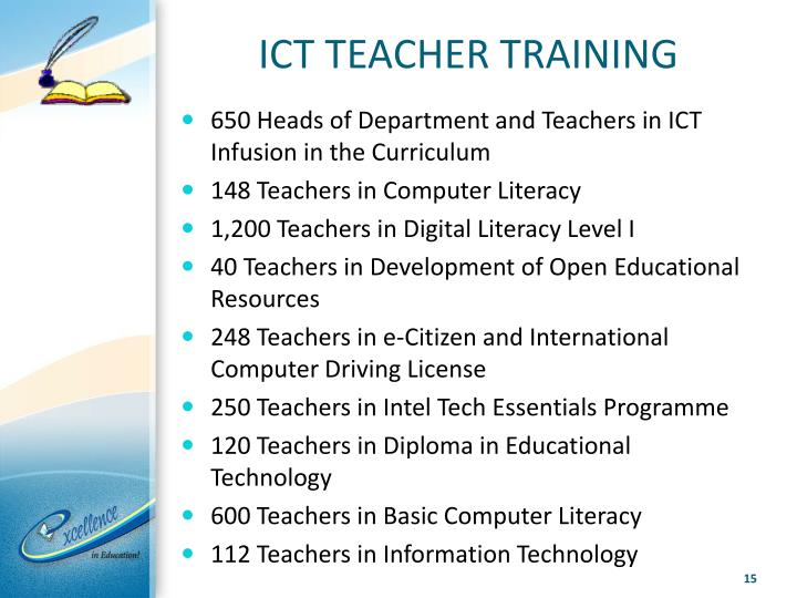 ICT TEACHER TRAINING