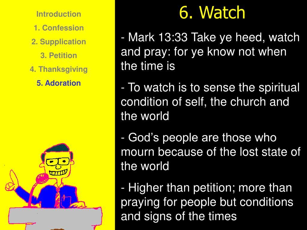 6. Watch