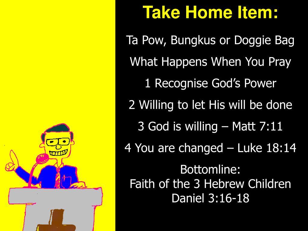 Take Home Item: