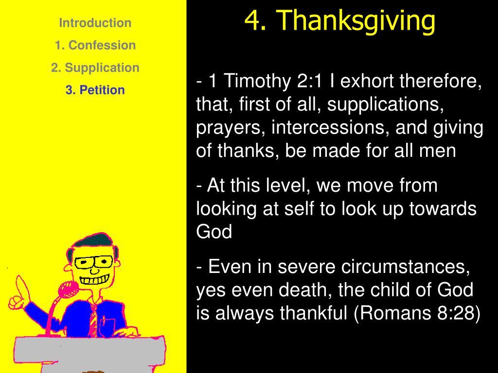 4. Thanksgiving