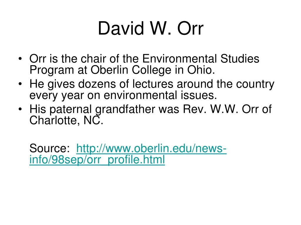 David W. Orr