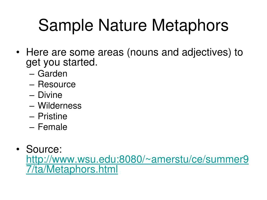 Sample Nature Metaphors