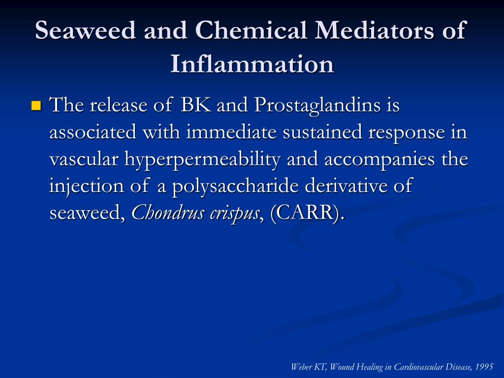 Seaweed and Chemical Mediators of Inflammation