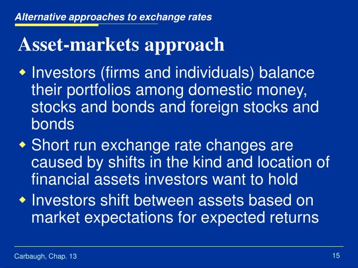 Alternative approaches to exchange rates