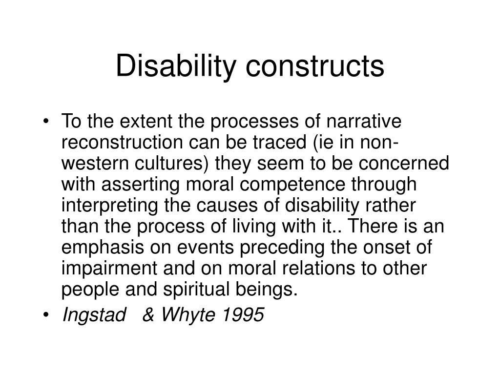 Disability constructs