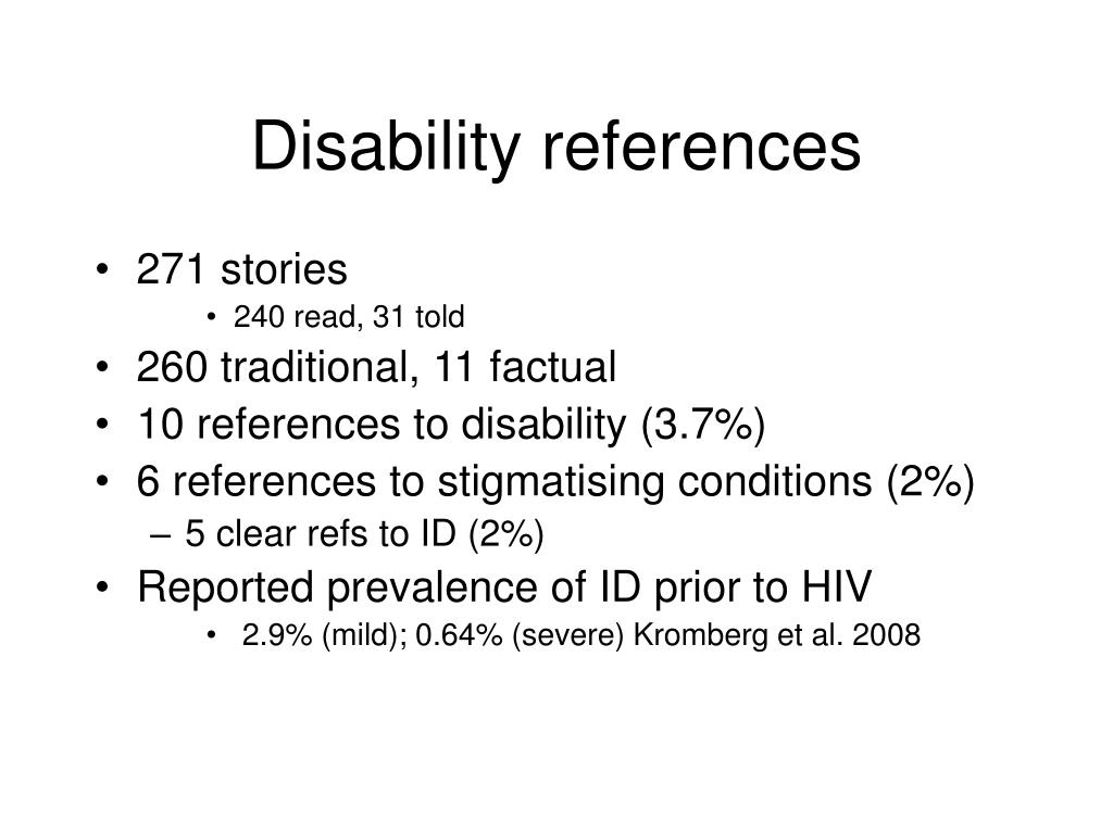 Disability references