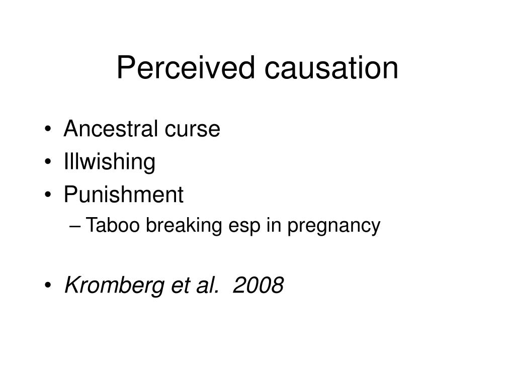 Perceived causation