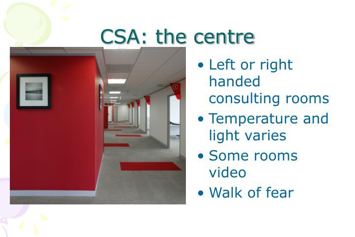 CSA: the centre
