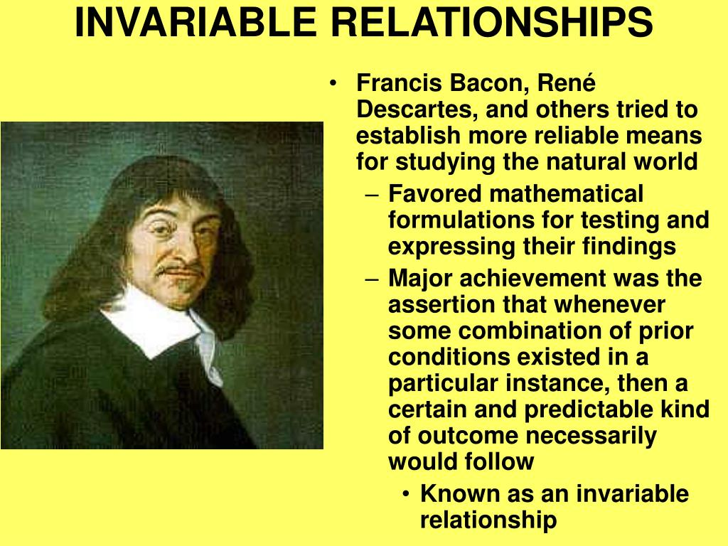 INVARIABLE RELATIONSHIPS