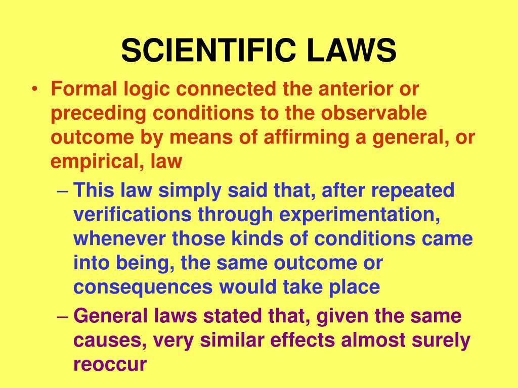 SCIENTIFIC LAWS