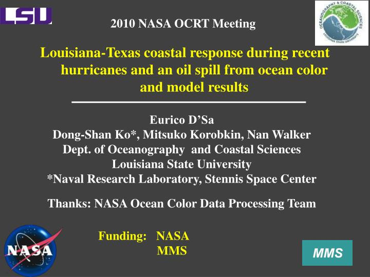 2010 NASA OCRT Meeting