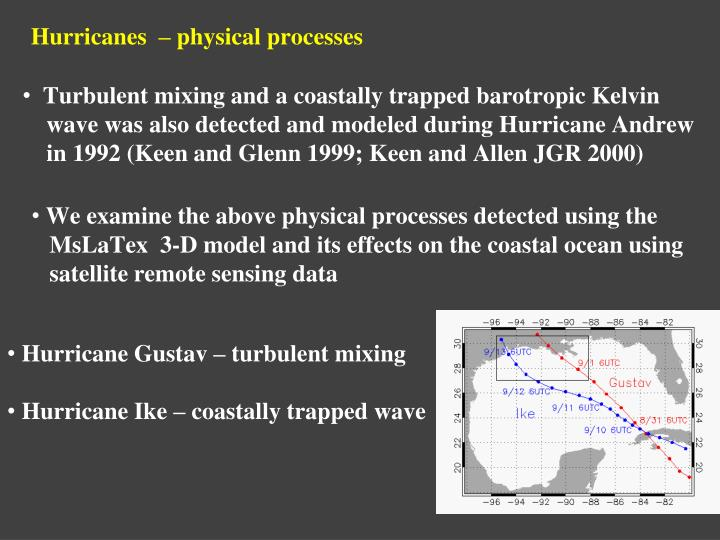 Hurricanes  – physical processes