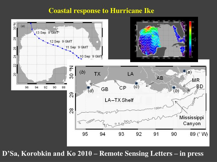 Coastal response to Hurricane Ike