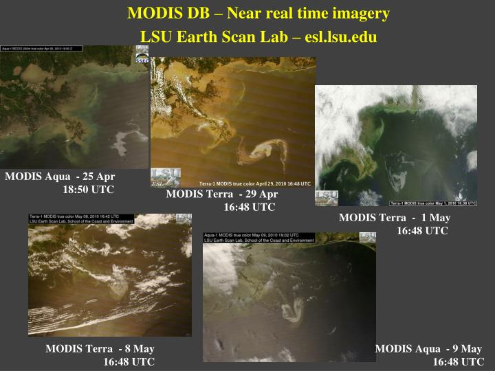 MODIS DB – Near real time imagery