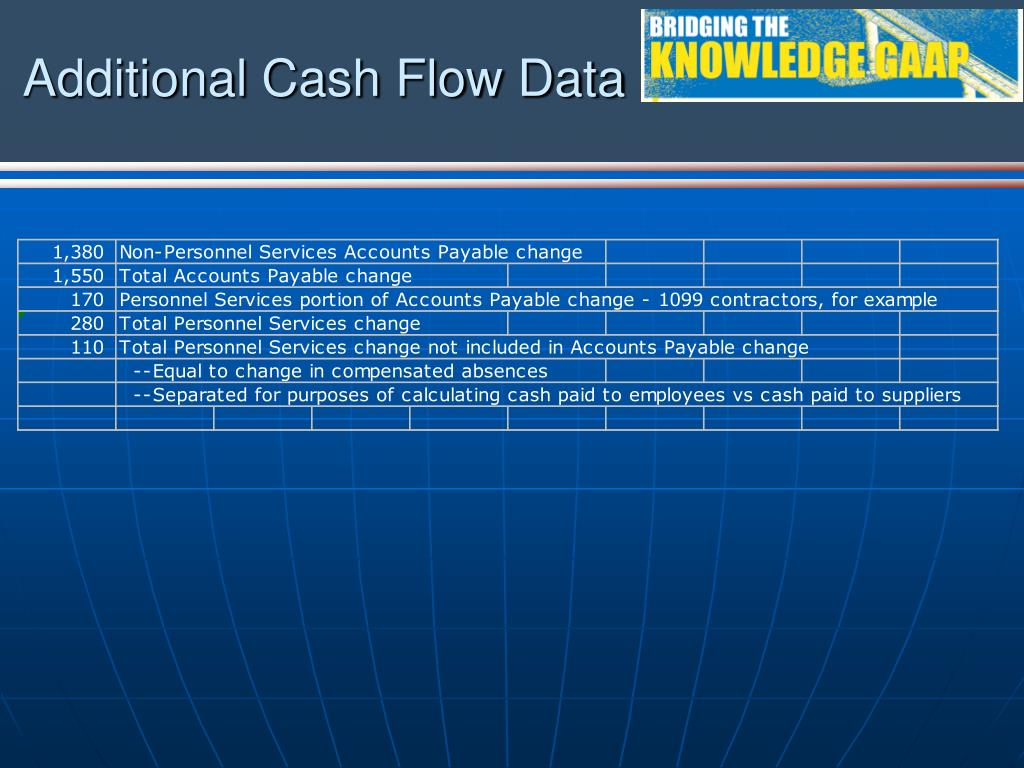 Additional Cash Flow Data