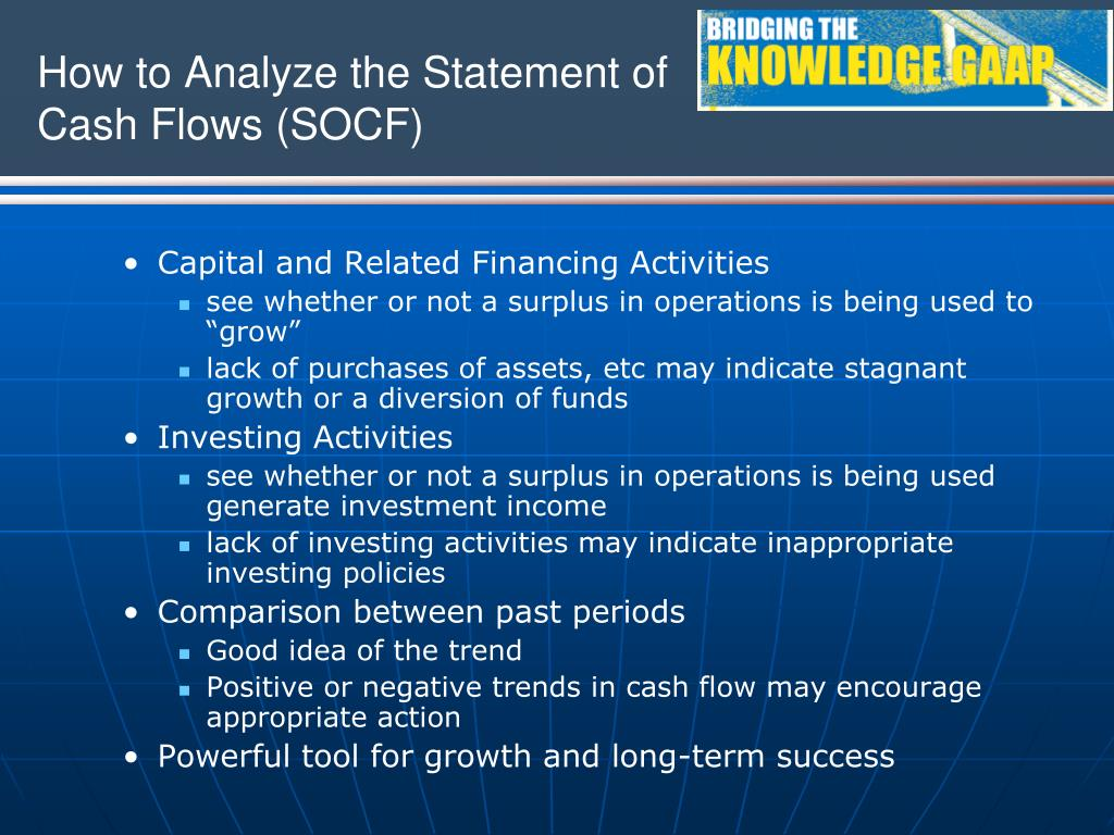 How to Analyze the Statement of Cash Flows (SOCF)