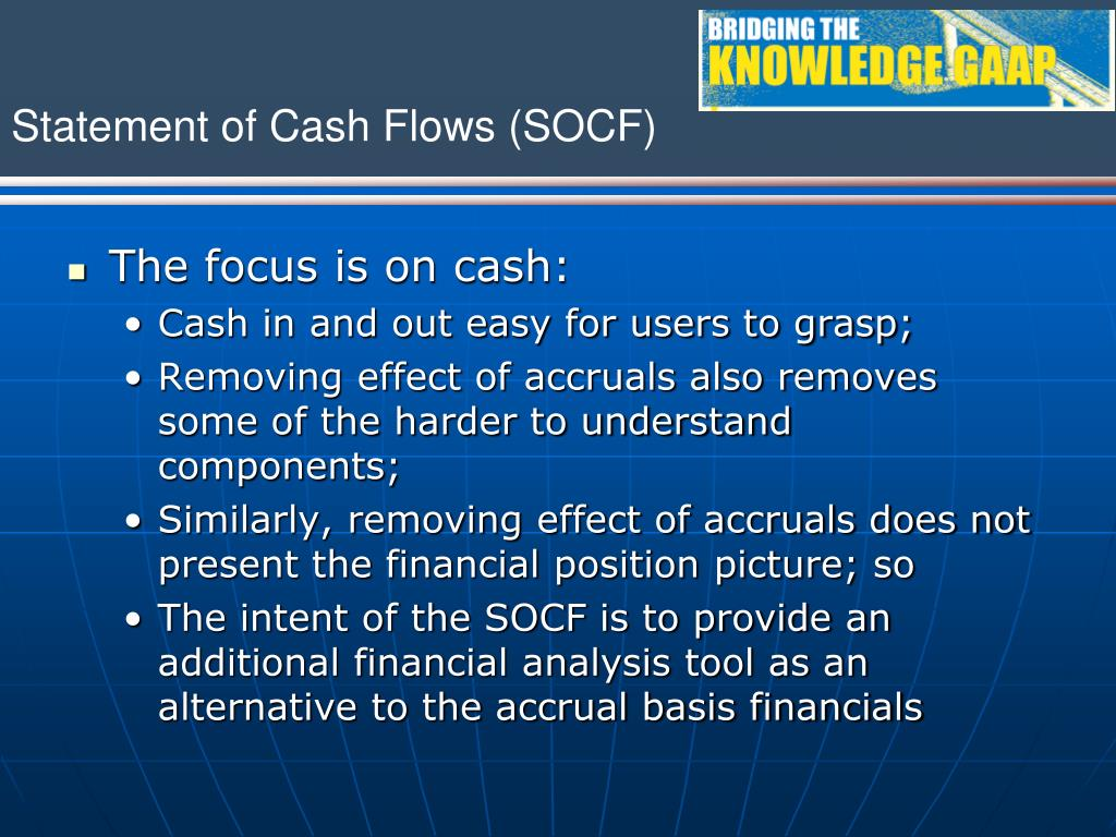 The focus is on cash: