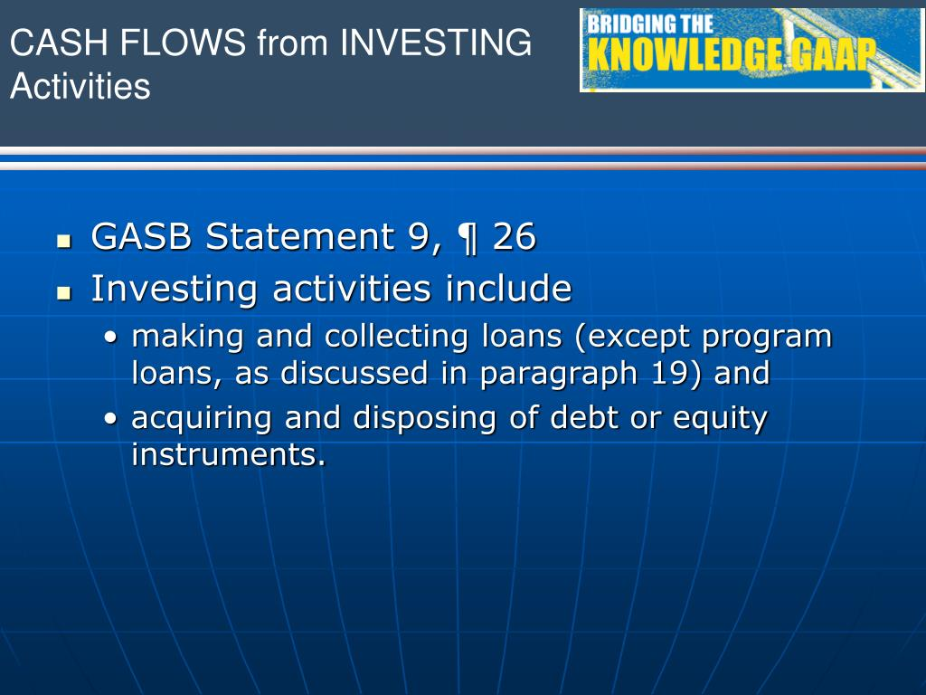 CASH FLOWS from INVESTING Activities