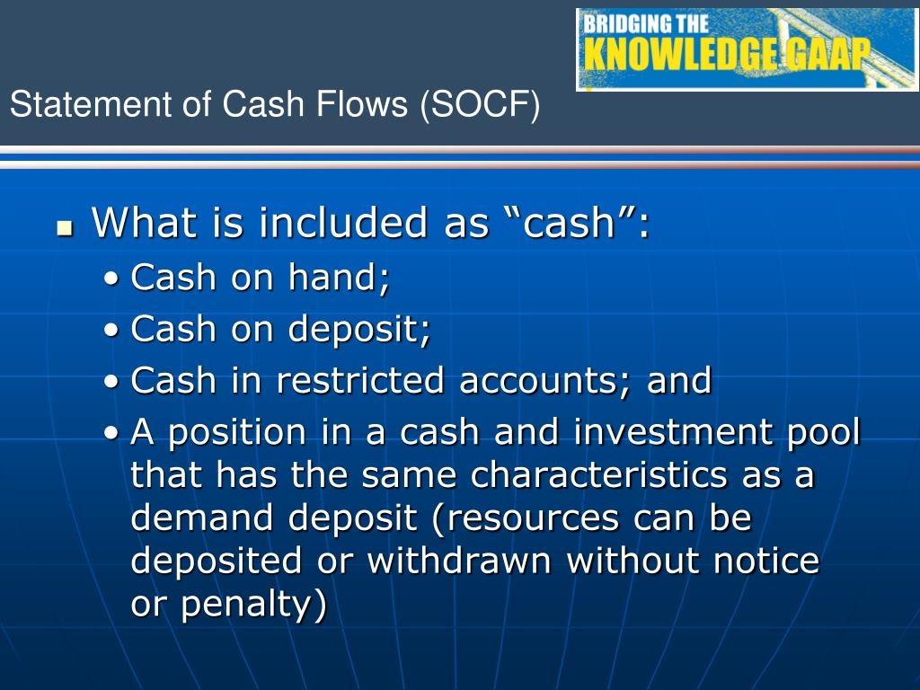 "What is included as ""cash"":"