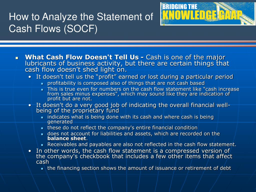 What Cash Flow Doesn't Tell Us -