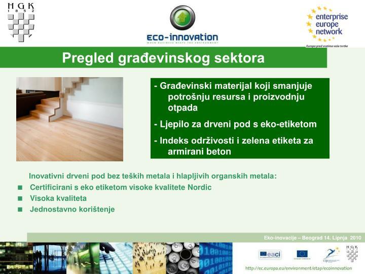 Pregled građevinskog sektora