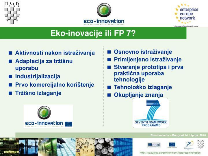 Eko-inovacije ili