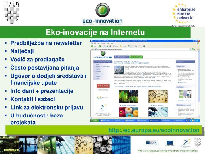 Eko-inovacije na Internetu