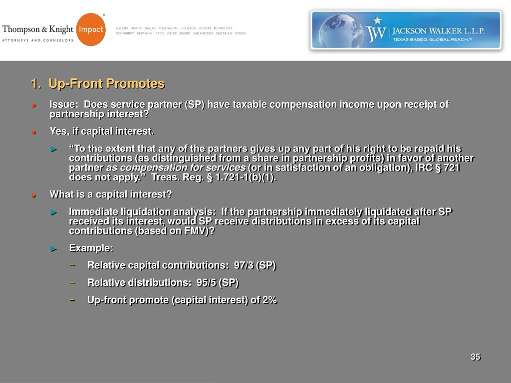 1.  Up-Front Promotes