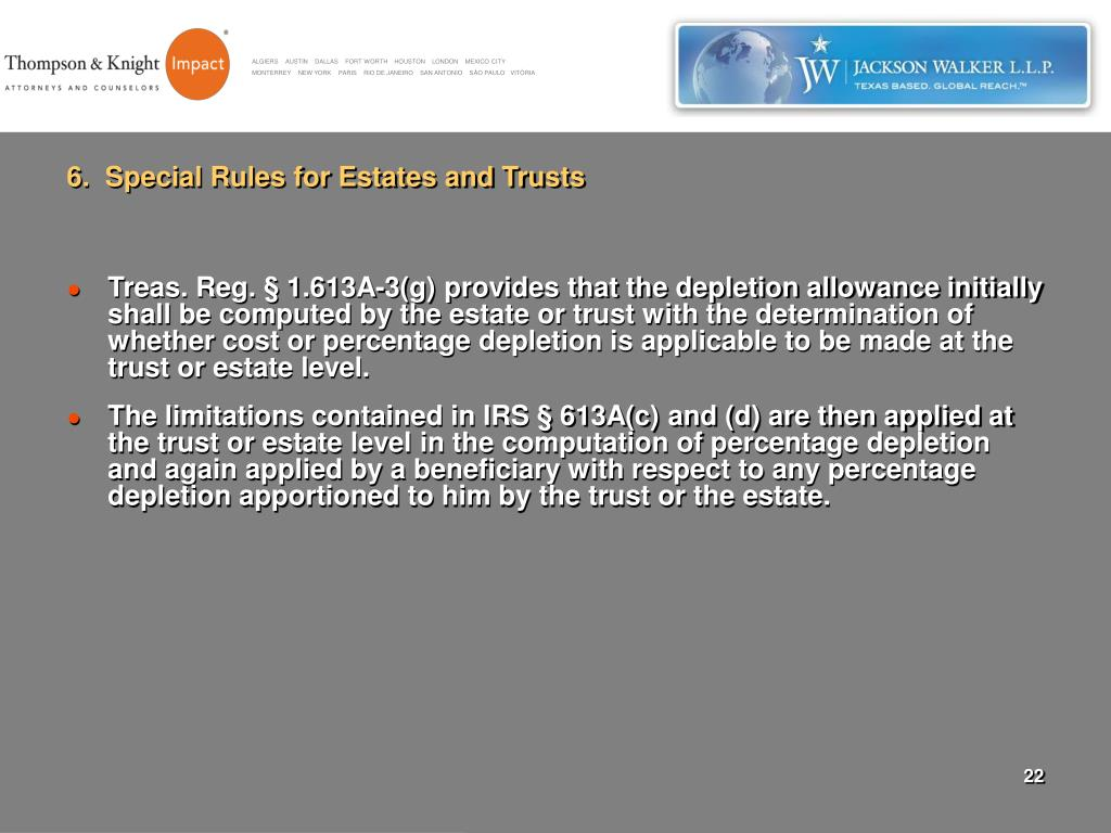 6.  Special Rules for Estates and Trusts