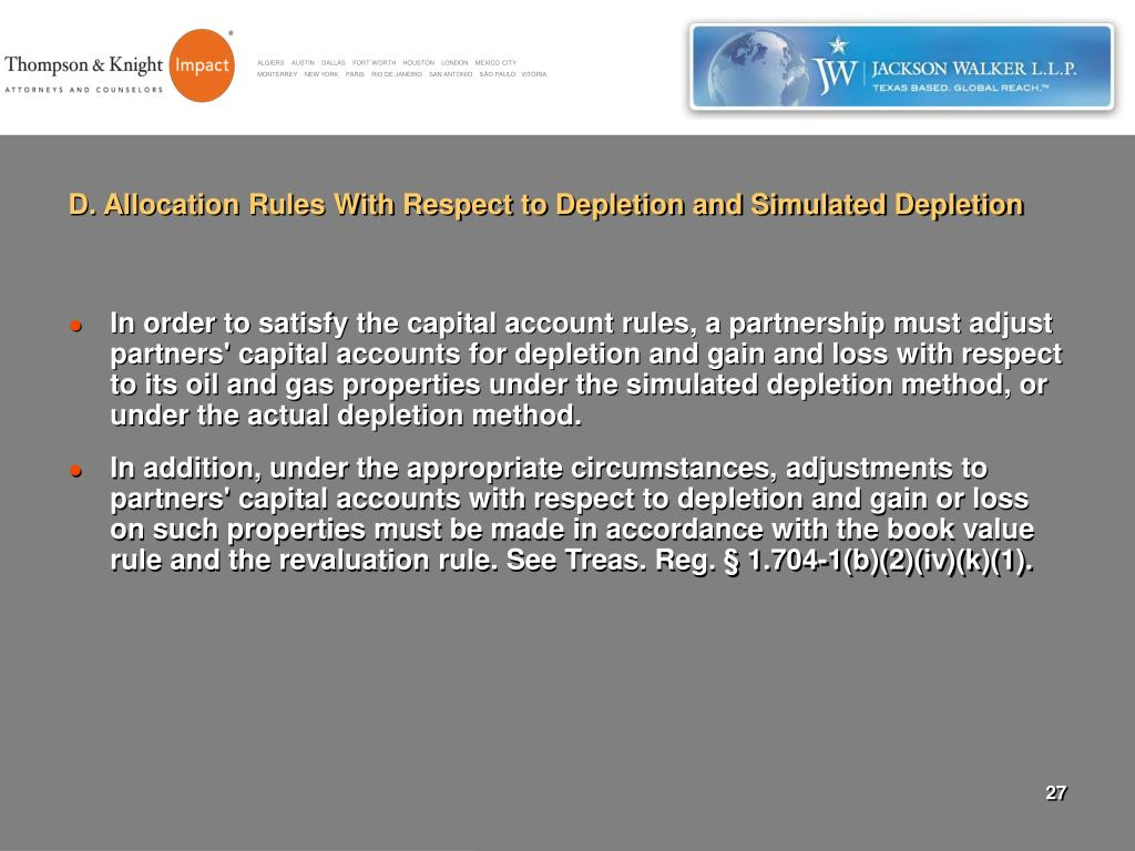 D. Allocation Rules With Respect to Depletion and Simulated Depletion