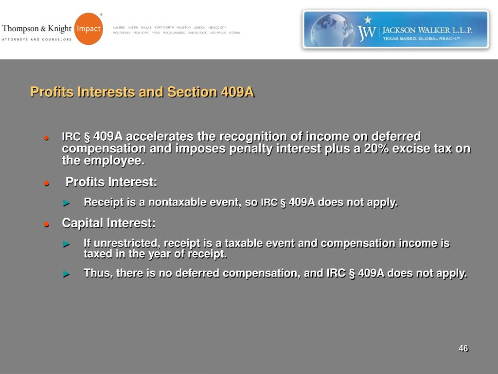 Profits Interests and Section 409A