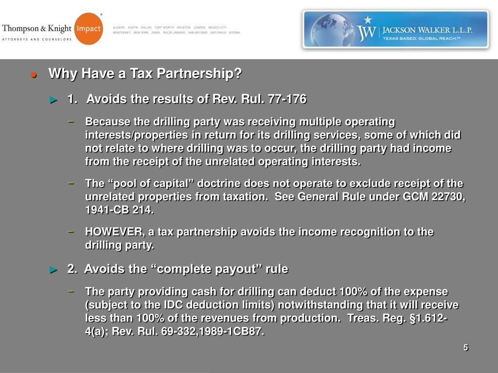 Why Have a Tax Partnership?