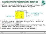 example internal resistance of a battery 2