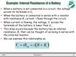 example internal resistance of a battery