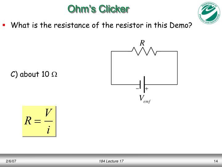 Ohm's Clicker